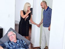 64-year-old Leah copulates. Her spouse watches.