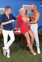 Shannon Blue's anal threesome
